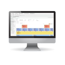 Monitor, der das Storage-, Software- und Applikations-Management unserer Software für IT Infrastructure Management abbildet.